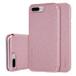 Чехол Nillkin Sparkle Leather Case для Apple iPhone 7 plus (розово-золотистый, винилискожа)