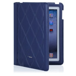 Чехол TS-Case Lattice Grain Case для Apple iPad 2/New iPad (синий, кожанный)