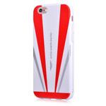 Чехол Aston Martin Back Case для Apple iPhone 6S (белый/красный, гелевый)