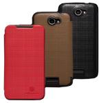 Чехол Nillkin Side leather case для HTC One X S720e (черный, кожанный)