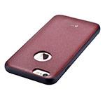 Чехол Devia Original Leather case для Apple iPhone 6S (красный, кожаный)
