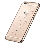 Чехол Devia Crystal Flowery для Apple iPhone 6S (Champagne Gold, пластиковый)