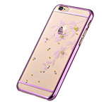 Чехол Devia Crystal Flowery для Apple iPhone 6S (Rose Pink, пластиковый)