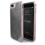 Чехол X-doria Defense Lux для Apple iPhone 7 plus (Rose Gold Grey Fabric, маталлический)