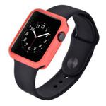 Чехол Devia Colorful case для Apple Watch 38 мм (розовый, гелевый)