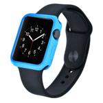 Чехол Devia Colorful case для Apple Watch 38 мм (голубой, гелевый)