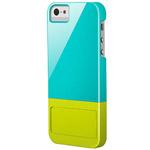 Чехол X-doria Kick Case для Apple iPhone 5 (голубой/желтый, пластиковый)
