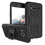 Чехол Yotrix Shockproof case для Samsung Galaxy J2 2016 (черный, пластиковый)