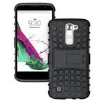 Чехол Yotrix Shockproof case для LG K10 (черный, пластиковый)