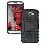 Чехол Yotrix Shockproof case для LG K4 (черный, пластиковый)