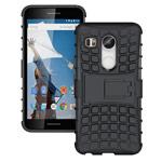 Чехол Yotrix Shockproof case для LG Nexus 5X (черный, пластиковый)