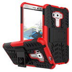 Чехол Yotrix Shockproof case для Asus Zenfone 3 ZE552KL (красный, пластиковый)