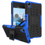 Чехол Yotrix Shockproof case для Sony Xperia X (синий, пластиковый)