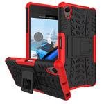 Чехол Yotrix Shockproof case для Sony Xperia X Performance (красный, пластиковый)