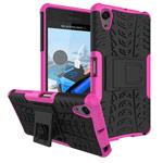 Чехол Yotrix Shockproof case для Sony Xperia X Performance (розовый, пластиковый)
