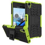 Чехол Yotrix Shockproof case для Sony Xperia X Performance (зеленый, пластиковый)