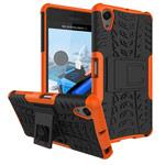 Чехол Yotrix Shockproof case для Sony Xperia X Performance (оранжевый, пластиковый)
