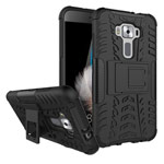 Чехол Yotrix Shockproof case для Asus Zenfone 3 ZE520KL (черный, пластиковый)
