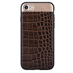 Чехол Comma Croco 2 Leather case для Apple iPhone 7 (коричневый, кожаный)