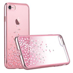 Чехол Comma Unique Polka 360 для Apple iPhone 7 (Rose Gold, пластиковый)