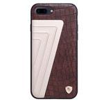 Чехол Nillkin Hybrid Case для Apple iPhone 7 plus (коричневый, кожаный)