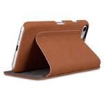 Чехол Melkco Premium Booka Stand Type для Apple iPhone 7 (коричневый, кожаный)