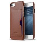 Чехол Melkco Premium Card Slot Snap Cover V1 для Apple iPhone 7 (коричневый, кожаный)