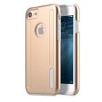 Чехол Melkco Kubalt case для Apple iPhone 7 (золотистый/белый, пластиковый)