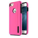 Чехол Melkco Kubalt case для Apple iPhone 7 (розовый/черный, пластиковый)