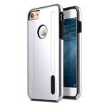 Чехол Melkco Kubalt case для Apple iPhone 7 (серебристый/черный, пластиковый)