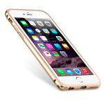 Чехол Melkco Q Arc Aluminium Bumper для Apple iPhone 7 (золотистый, маталлический)