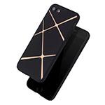 Чехол Azulo X-Line case для Apple iPhone 7 (черный, пластиковый)