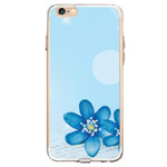 Чехол Azulo Fancy case для Apple iPhone 7 (Blue Flowers, гелевый)