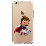 Чехол Azulo Fancy case для Apple iPhone 7 (Football Boy, гелевый)