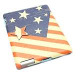 Чехол Nextouch I Love USA для Apple iPad 2/new iPad (с рисунком, кожанный)