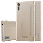 Чехол Nillkin Sparkle Leather Case для Sony Xperia XZ (золотистый, винилискожа)