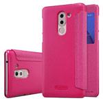 Чехол Nillkin Sparkle Leather Case для Huawei Honor 6X (розовый, винилискожа)