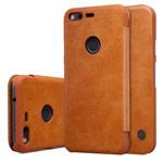 Чехол Nillkin Qin leather case для Google Pixel XL (коричневый, кожаный)