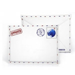Чехол-сумка Samdi Postcard Pouch для Apple iPad 2/new iPad (белый, кожанный)