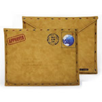 Чехол-сумка Samdi Postcard Pouch для Apple iPad 2/new iPad (бежевый, кожанный)