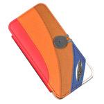 Чехол Discovery Buy case для Apple iPhone 5 (красный/оранжевый/коричневый, матерчатый)