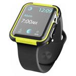 Чехол X-doria Defense Edge для Apple Watch Series 2 (42 мм, черный/зеленый, маталлический)