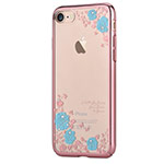 Чехол Devia Crystal Joyous для Apple iPhone 7 (Blue Flowers, пластиковый)