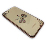 Чехол X-Fitted Royal Butterfly Deluxe для Apple iPhone 7 (золотистый, пластиковый)
