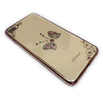 Чехол X-Fitted Royal Butterfly Deluxe для Apple iPhone 7 plus (золотистый, пластиковый)
