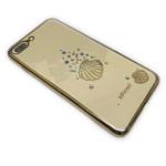 Чехол X-Fitted Undersea World для Apple iPhone 7 plus (золотистый, пластиковый)