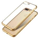 Чехол X-Fitted E-Plating Case для Apple iPhone 7 plus (золотистый, гелевый)