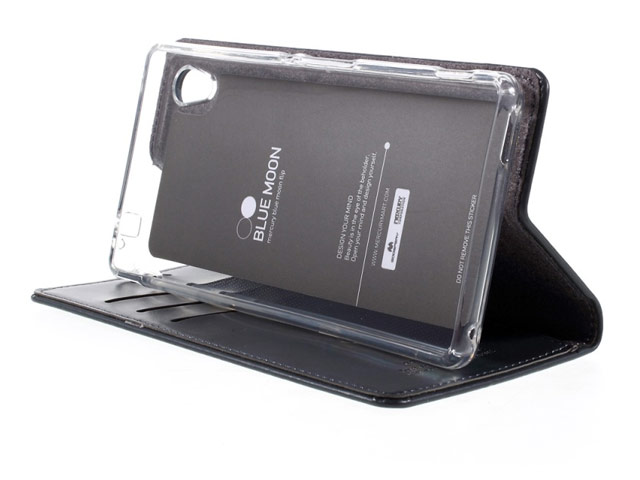 Чехол Mercury Goospery Blue Moon Flip для Sony Xperia XA (малиновый, винилискожа)