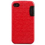 Чехол YoGo Auspice для Apple iPhone 4 (кожаный, красный)