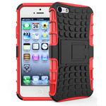 Чехол Yotrix Shockproof case для Apple iPhone SE (красный, пластиковый)
